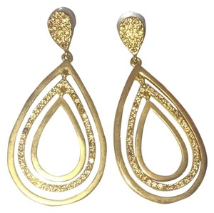 Judith Leiber Ellipse Crystal Drop Earrings