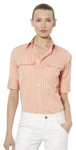 Ralph Lauren New With Tags Orange White Button Down Shirt