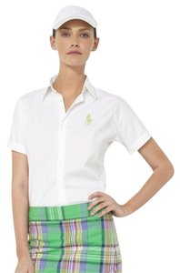 Ralph Lauren Golf Riley Stretch Poplin Shirt Button Down Shirt White
