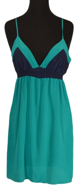 Preload https://item5.tradesy.com/images/twelfth-st-by-cynthia-vincent-blue-green-knee-length-night-out-dress-size-10-m-972624-0-0.jpg?width=400&height=650