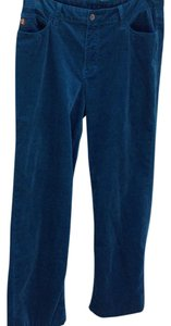 Christopher Blue Corduroy Straight Leg Jeans
