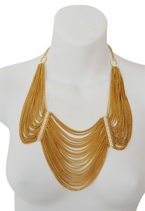 A.B.S. by Allen Schwartz ABS Allen Schwartz Stoned Chains Clear Crystal Bib Chain Necklace Goddess (SRP $125)