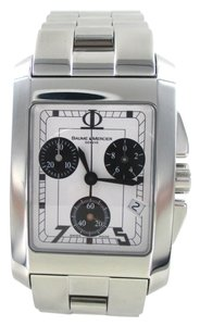 Baume & Mercier BAUME & MERCIER WATCH STAINLESS STEEL GENEVE HAMPTON CHRONOGRAPH WHITE DIAL MEN