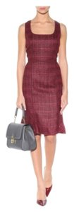 Tory Burch short dress Burgundy on Tradesy