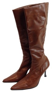 Rebel Glazed Leather Leather Italy Cognac brown Boots