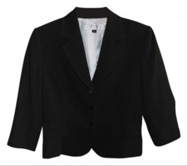 Elie Tahari Black Snap Button Jacket