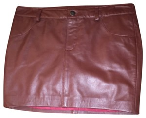 Haute Hippie Mini Skirt Maroon