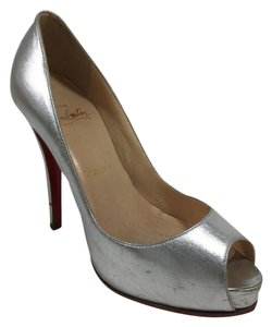 Christian Louboutin Metallic Gold Rolando Silver Pumps