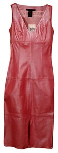 Parallel Leather Pink Sleeveless Dress