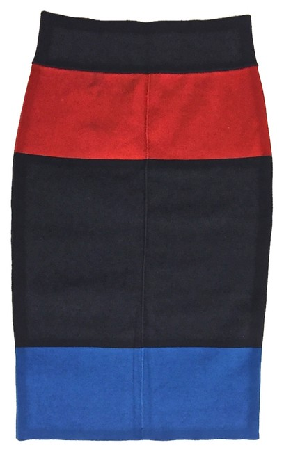 Item - Navy/Red/Blue Knit Pencil Skirt Size 4 (S, 27)