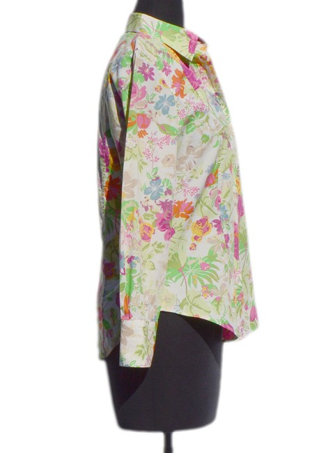 Etro Top Biege / Green / Pink / Orange