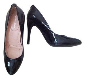 Calvin Klein Black Patent Leather Pumps