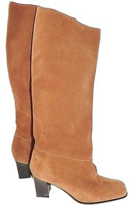 Delman Tall Suede Tan Boots