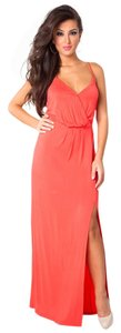 bright coral Maxi Dress by BCBGeneration