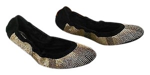 Tod's Beaded Limited Edition Made In Italy Black Flats