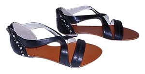Other Hypnosi Crystal Accented Silvertone Runs A Little Wide Black Sandals