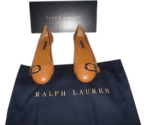 Ralph Lauren Collection Sophisticated Camel Flats