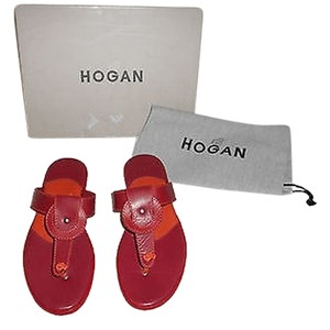 Hogan Ibiza Comfortable New Never Worn Red Sandals