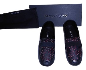 NewbarK Floral Cut Outs Textile Accent Designed Comfortable Made In The Usa Black Flats