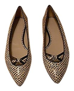Jason Wu Watersnake Sophisticated Nude/Black Flats