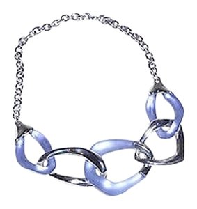 Alexis Bittar Alexis Bittar Sky Blue Liquid Metal Link Necklace