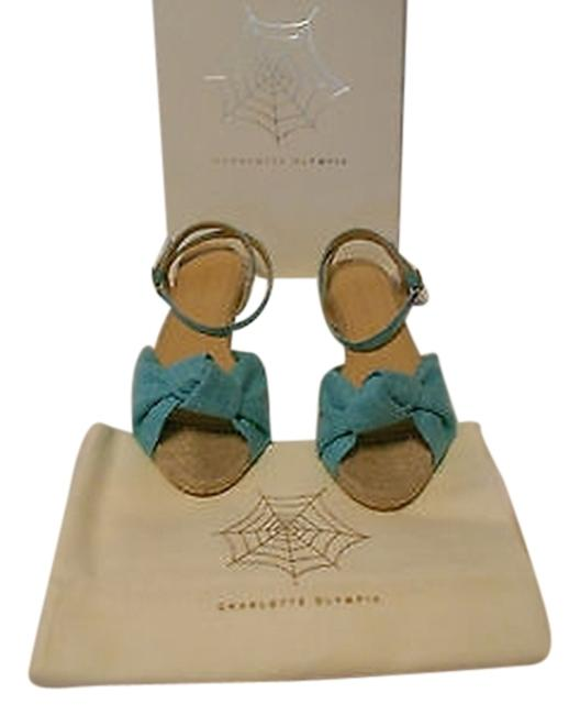 """Item - Blue """"Marina"""" Canvas and Jute Ankle Strap Sandals Size EU 39.5 (Approx. US 9.5) Regular (M, B)"""