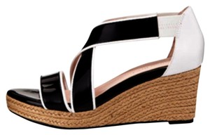 Taryn Rose Black and white Wedges
