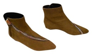 Giuseppe Zanotti Zipper Accent Distressed Design Hidden Wedge Made In Italy Militare Boots