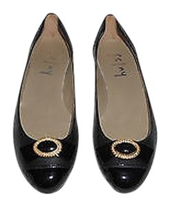 French Sole Fable Black Flats