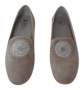 Mephisto Crystal Accent Warm Grey Flats
