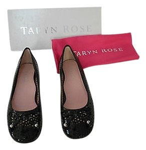 Taryn Rose Barb Cut Out Black Flats