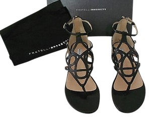 Fratelli Rossetti Designed Made In Italy Black Sandals
