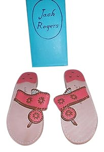 Jack Rogers Marina Iconic Style Fire Coral/Cognac Sandals