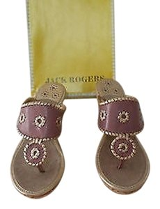 Jack Rogers Lovely Color Combo Natural Cork Wedge Purple Sandals