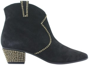 Rene Caovilla Dazzeling New Never Worn Made In Italy Black Boots