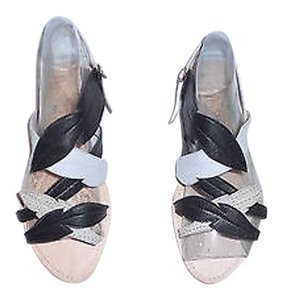 Heimstone Lovely Design Leather/suede Soft Lambskin Whimsical Black/Beige/Chalk Sandals