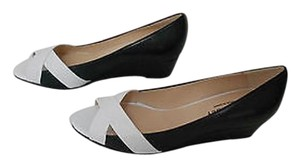 Other Crisscross Design Peep Toe Two Tone Stylish Made In Spain Navy/White Platforms
