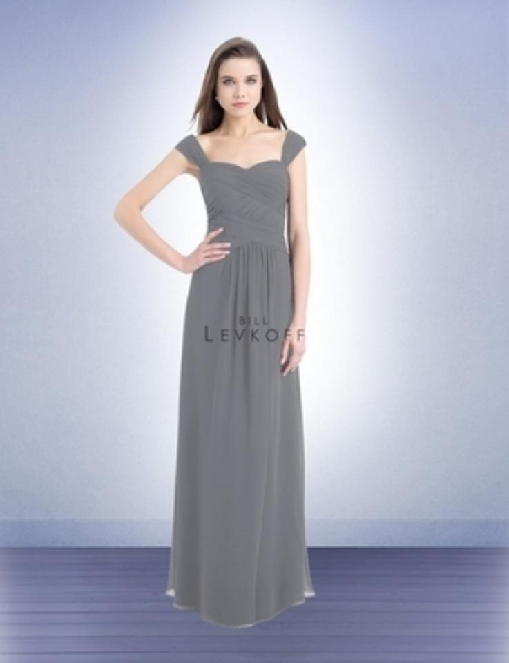 f3d87a121a0ac Bill Levkoff Pewter Chiffon Style # 733 Formal Bridesmaid/Mob Dress Size 18  (XL ...