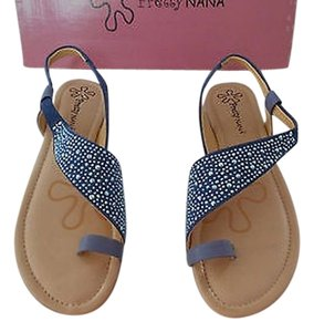 Other Pretty Nana Jeans Lovely Blue Crystals Azure Sandals