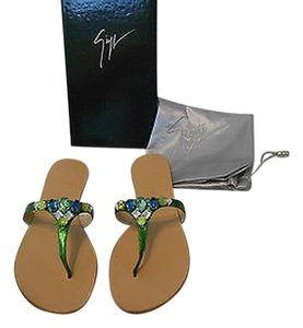 Giuseppe Zanotti Made In Italy Green Sandals