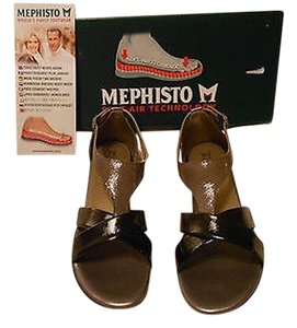 Mephisto Zazia Soft-air Technology Comfortable Black/Lead Sandals