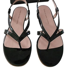 Marc by Marc Jacobs Strappy Goring Inserts Stacked Heel Black Sandals