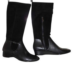 Taryn Rose Fuller Partial Side Zip Black Boots