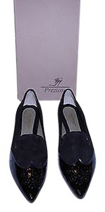 Other Wing Tip Design Mixed Cap Toe Made In Italy Black Flats