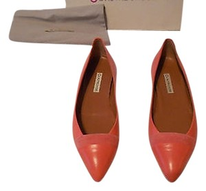 L'Autre Chose Capretto Leather Hidden Wedge 9m Rose Flats