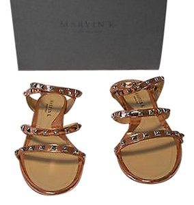 Aquatalia by Marvin K. Studded Detail Luxurious Color Chic Design New Never Worn K. Mandarin Sandals