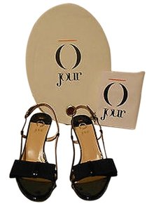 Other Elegant Design Slingback Made In Italy Black Sandals
