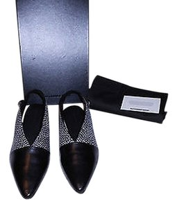 Alexander Wang Mixed Leather Reptile Embossed Slingback Made In Italy Multicolor Flats