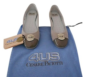 Cesare Paciotti Comfortable Wonderful Design Neutral Color Made In Italy Taupe Flats