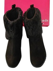 Kate Spade Shearling Color Chocolate Boots